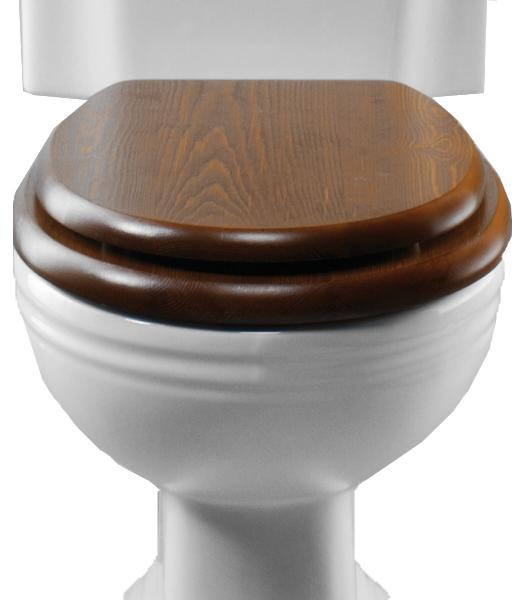 Toalettsits trä brun